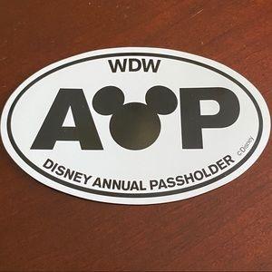 Walt Disney Annual Pass holder Car Magnetic - WDW
